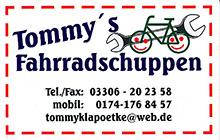 unser Sponsor Tommy's Fahrradschuppen